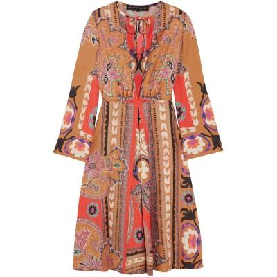 エトロ ETRO 7分丈ワンピース・ドレス ブラウン 46 ウール 100% 7分丈ワンピース・ドレス