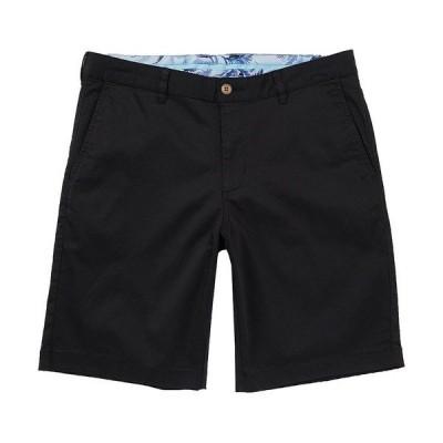 トッミーバハマ メンズ ハーフ&ショーツ ボトムス Flat-Front Straight-Fit Stretch Sateen 10#double; Inseam Boracay Shorts Black