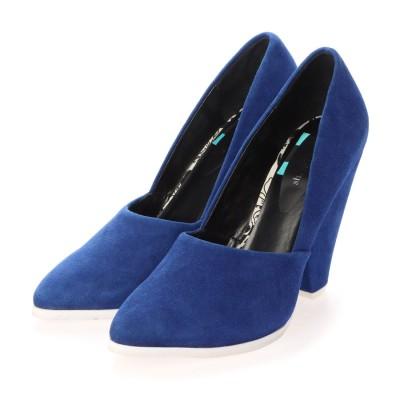 シューズラウンジ アウトレット shoes lounge OUTLET パンプス 1528014BLU (ブルー)