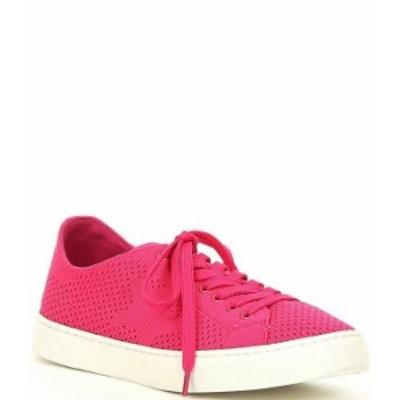スティーブ マデン レディース スニーカー シューズ Ranks Knit Star Lace-Up Sneakers Pink