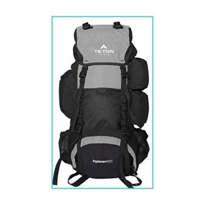 TETON Sports Explorer 4000 Internal Frame Backpack; High-Performance Backpack for Backpacking, Hiking, Camping; Metallic Silver【並行輸