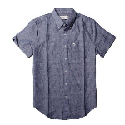 アバクロ / Abercrombie&Fitch メンズ  シャンブレーシャツ ネイビー