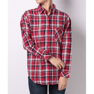 (URBAN RESEARCH OUTLET/アーバンリサーチ アウトレット)【WAREHOUSE】CHECKSHIRTA/レディース レッド