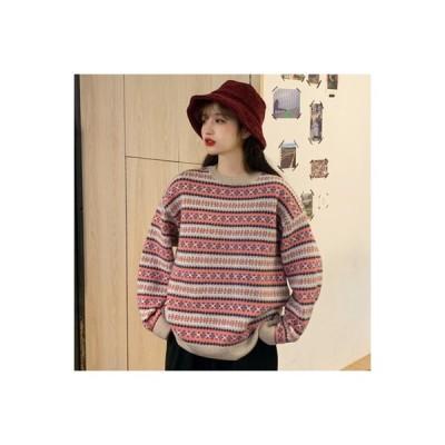 【送料無料】何でも似合う 2 カラー 暖かい セーターの女性 秋と冬 韓国風 パター | 364331_A64004-1849102