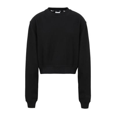 REEBOK x VICTORIA BECKHAM スウェットシャツ ブラック XS コットン 100% スウェットシャツ