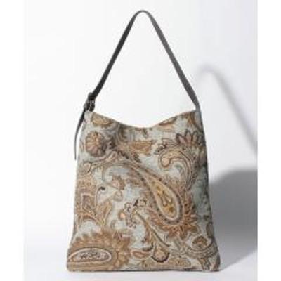 MELROSE Claire(メルローズ クレール)エコファー/ゴブラン織りショルダーバッグ