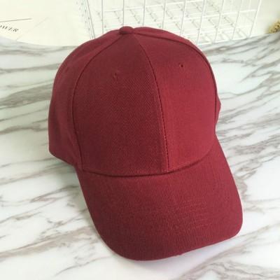 ミニミニストア miniministore キャップ レディース メンズ ローキャップ-ツバあり カーブキャップ 帽子 スポーツ 無地 CAP おしゃれ 男女兼用 野球帽 (ワインレッド)
