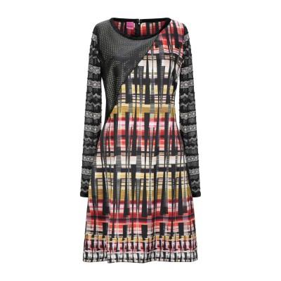 SAVE THE QUEEN ミニワンピース&ドレス ブラック S ポリエステル 78% / ナイロン 16% / レーヨン 6% ミニワンピース&