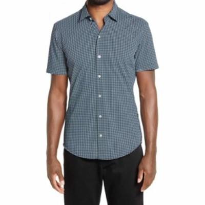 ヒューゴ ボス BOSS メンズ 半袖シャツ トップス Robb Geo Print Short Sleeve Button-Up Shirt Green