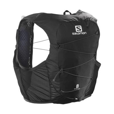 SALOMONアウトドアACTIVE SKIN 8 ベスト LC1568200ブラック