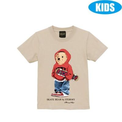 ストーミー STORMY キッズ tシャツ BEAR KIDS SS T-SHIRTS SAND 半袖Tシャツ 子供