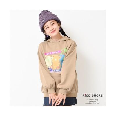 【子供服SHUSHU】クマ柄フーディープルオーバー RiCO SUCRE リコ シュクレ (トレーナー・スウェット)Kids' Sweatshirts