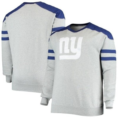ミッチェル&ネス メンズ パーカー・スウェット アウター New York Giants Mitchell & Ness Big & Tall Post Season Run Crew Neck Sweatshirt