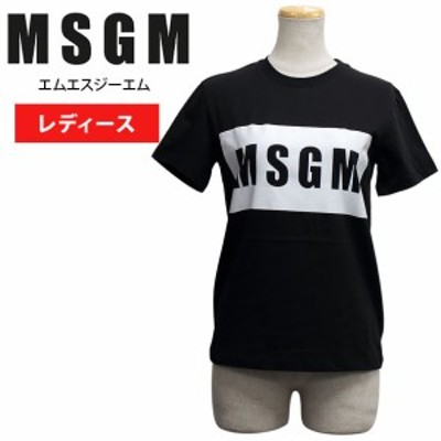 MSGM エムエスジーエム レディース半袖Tシャツ ウェア アパレル 2641MDM95 99//2641MDM95-99【新品】