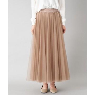 スカート 【人気スカートの新作】チュールボリュームギャザースカート