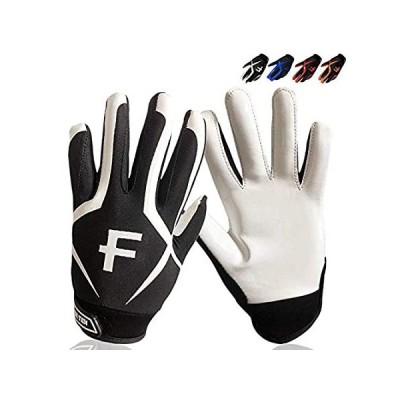 FINGER TEN Youth Football Gloves Ultra Stick Palm Receivers 1 Pairs Sizes S