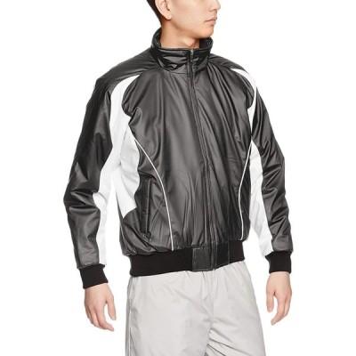 [エスエスケイ] ジャケット 蓄熱グラウンドコート フロントフルZIP(中綿) メンズ ブラック×ホワイト×ホワイト (9010W) O