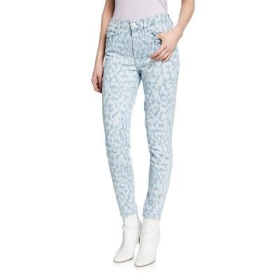 カレント エリオット レディース デニムパンツ ボトムス The High Waist Stiletto Leopard Ankle Jeans
