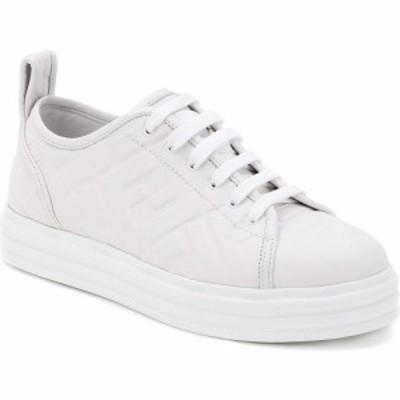 フェンディ FENDI レディース スニーカー シューズ・靴 FF Logo Embossed Platform Sneaker White