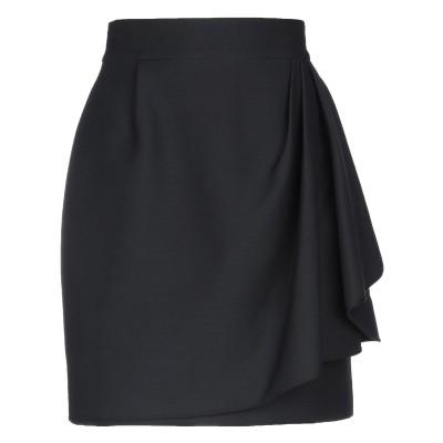 ヴァレンティノ VALENTINO ひざ丈スカート ブラック 42 バージンウール 65% / シルク 35% ひざ丈スカート