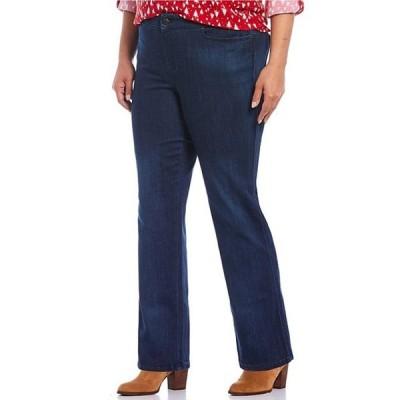 イントロ レディース デニムパンツ ボトムス Plus Size Adrian Tummy Control Straight Leg Pull-On Denim Pants
