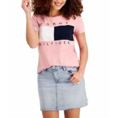 トミー ヒルフィガー レディース シャツ トップス Big Flag T-Shirt Bridal Rose