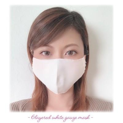 【日本製ホワイトガーゼ6層構造立体マスク】フィルタポケット付き 洗える レディース おしゃれ かわいい ブランド 涼しい 夏
