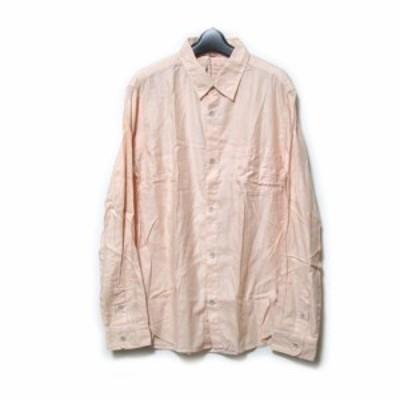 【新品】 J.FERRY MEN ジェイフェリー メン「XL」コットンデザインシャツ (クリームピンク カッターシャツ) 110305