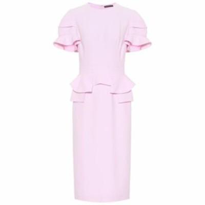 アレキサンダー マックイーン Alexander McQueen レディース ワンピース ワンピース・ドレス Crepe midi dress Pale Rose