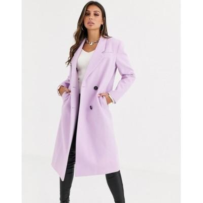 エイソス レディース コート アウター ASOS DESIGN hero longline maxi coat in lilac