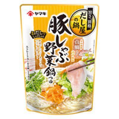 ヤマキヤマキ 豚しゃぶ野菜鍋つゆ真鯛ゆず 750g