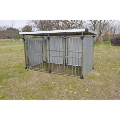 ドッグハウス DFS-M1 (0.5坪タイプ屋外用犬小屋) 中型犬 大型犬 犬小屋 ステンレス製〔代引不可〕