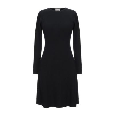 CASHMERE COMPANY ミニワンピース&ドレス ブラック 42 ウール 50% / カシミヤ 30% / ナイロン 15% / ポリウレタ