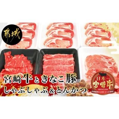 宮崎牛と「きなこ豚」しゃぶしゃぶ&とんかつセット_AC-4406