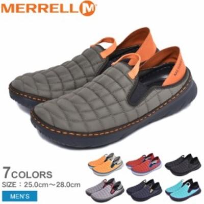 メレル スリッポン メンズ ハットモック 靴 モックシューズ 黒 サンダル 軽量 アウトドア MERRELL HUT MOC