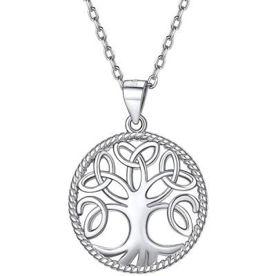 Silvora ツリーオブライフ 生命の樹 ネックレス レディース 人気 プラチナ シルバー925 金属アレルギー お守り アクセサリー
