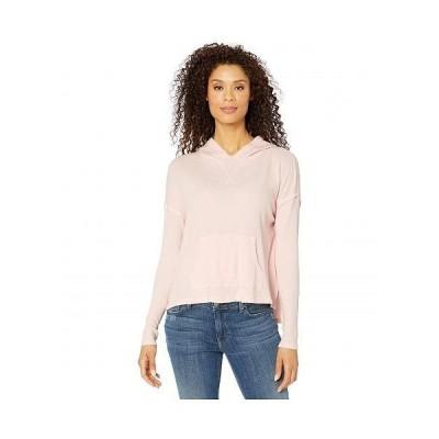 Mod-o-doc モッドオードック レディース 女性用 ファッション Tシャツ Cotton Modal Thermal Hooded Kangaroo Pocket Pullover - Sweet Tart