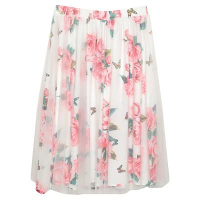 NO SECRETS 7分丈スカート ホワイト 42 ポリエステル 100% 7分丈スカート