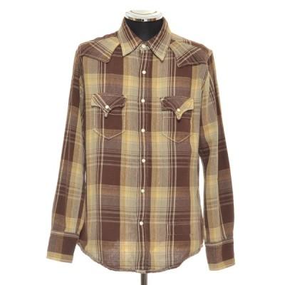 MARK STORE マークストア ウエスタンシャツ サイズ30 コットン メンズ ブラウン