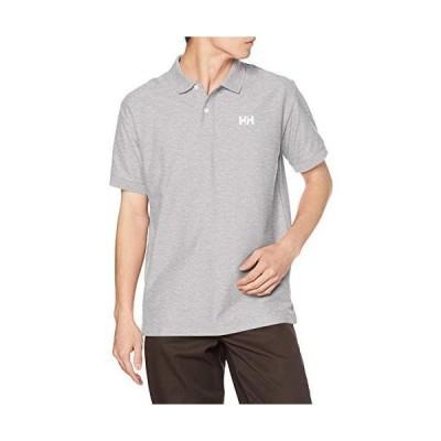 [ヘリーハンセン] ポロシャツ ショートスリーブ HHロゴポロ メンズ ミックスグレー S