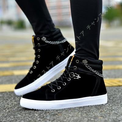 メンズ カジュアルシューズ 軽量 スニーカー インヒール スケートボードシューズ 通気性 白の靴 メンズ 厚底靴  メンズ ローカット レースアップ靴
