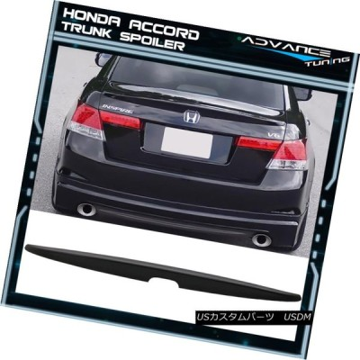 エアロパーツ フィット08-12ホンダアコードセダン4Dr未塗装ABSリアトランクスポイラーウィング Fits 08-12 Honda Accord