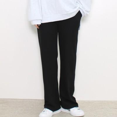 [Queenbeeshop]  韓国のパンツ 4color~ビッグサイズのパンツ~送料無料/ストレート·スウェット·パンツ★