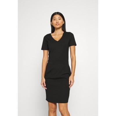 カフェ ワンピース レディース トップス KAJULIANE DRESS - Shift dress - black deep