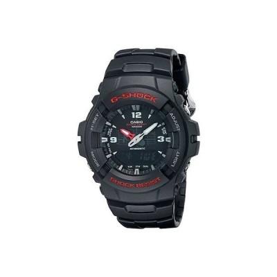 カシオ 腕時計  Casio G100-1B メンズ G-Shock Ana-Digi デュアルタイム ブラック レジン 腕時計