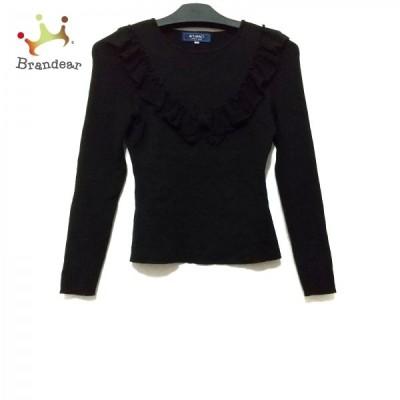 エムズグレイシー M'S GRACY 長袖セーター サイズ38 M レディース 美品 - 黒 フリル/リボン 新着 20210316