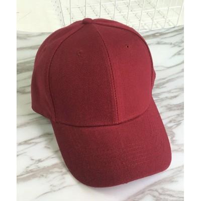 (miniministore/ミニミニストア)キャップ レディース メンズ ローキャップ?ツバあり カーブキャップ 帽子 スポーツ 無地 CAP おしゃれ 男女兼用 野球帽/レディース レッド系1