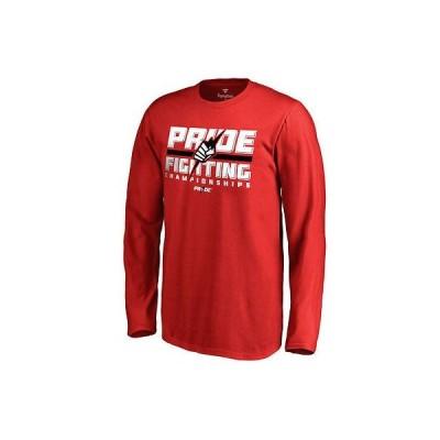 ファナティックス ブランディッド 総合格闘技 MMA アメリカ USA 全米 UFC ユース レッド Pride 長袖 Tシャツ