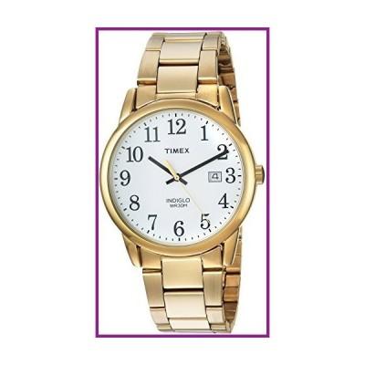 Timex Men's TW2R23600 Easy Reader Gold-Tone/White Stainless Steel Bracelet Watch【並行輸入品】