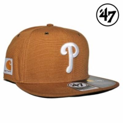 47ブランド カーハート コラボ スナップバックキャップ 帽子 メンズ レディース 47BRAND CARHARTT MLB フィラデルフィア フィリーズ フリ